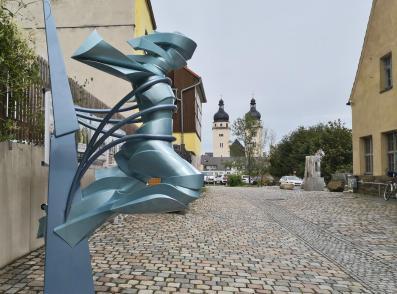 Blick vom Malszhaus zur Johannis-Kirche