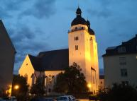 Die Johanniskirche bei Nacht