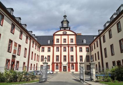 Schloss Saalfeld, heute Sitz des Landratsamts