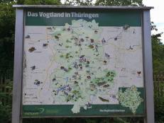 Karte des Vogtlands
