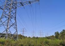 Mächtige Stromtrassen laufen hier zusammen