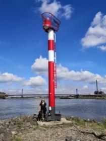Hier mündet die Ruhr (rechts) nach 219 Flußkilometern in den Rhein