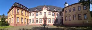 Panoramabild von der Prälatur des Klosters Steinfeld