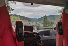 Blick aus dem Womo hinunter nach Klingenthal