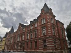 Seltenheit im Stadtbild von Zwickau: Eine Backsteinfassade
