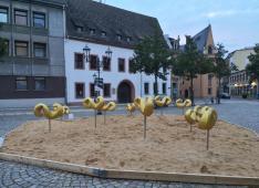 Kunstinstallation am Kornmarkt