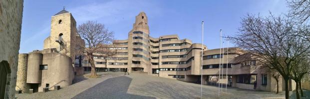 Panoramabild vom Innenhof des neuen Rathaus