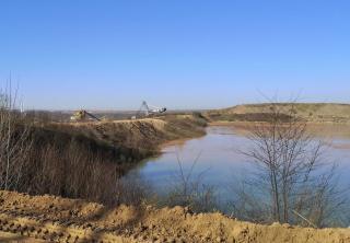 Am Rande des Tagebaus Garzweiler I Nord wird weiter rekultiviert
