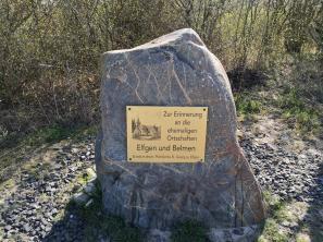 Hier stand früher die Pfarrkiche St. Georg inmitten der Ortschaft Elfgen