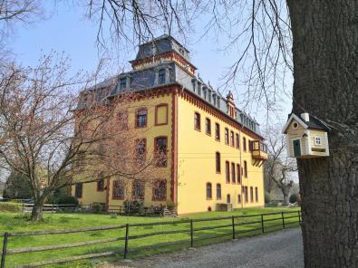 Seitenblick auf Schloss Wachendorf