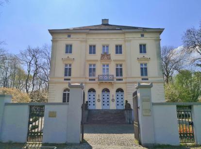 Nahansicht von Schloss Mickeln