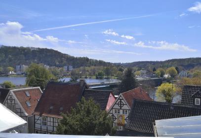 Blick von der Marktkirche zur Ruhrbrücke