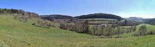 Panoramablick zum Schläfriger Berg und zur Dausfelder Mühle