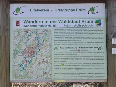 Infotafel zum Panorama-Wanderweg 120