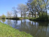 Mündung der Wurm in die Rur beim Dorf Kempen