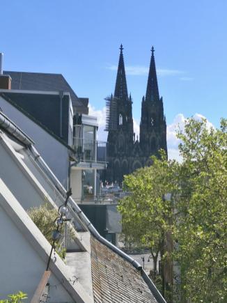 Balkonblick auf den Kölner Dom