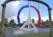 Vive la France: Schild an der Zufahrt zum CentrO