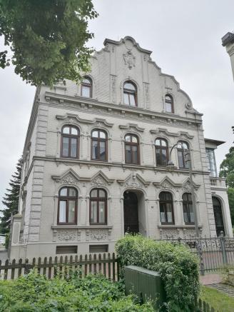 Prächtige Fassade in der Breite Straße