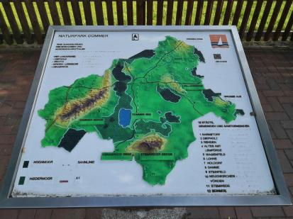 Karte des Naturparks Dümmer, zu dem auch die Dammer Berge gehören