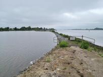Überlaufkante vom Yachthafen zur Weser - Betreten strengstens verboten