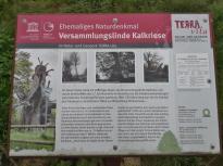 Hier stand jahrhundertelang einer Gerichtslinde, die zur Feier des Friedensschluss am Ende des Dreißigjährigens Krieges gefplanzt wurde