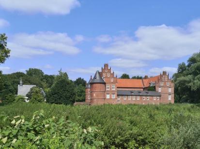 Rückseite von Schloss Herten