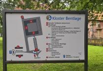 Infotafel am Kloster Bentlange