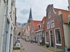 Blick durch die Grote Kerkstraat zur Grote Kerk