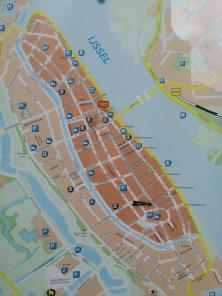 Das historische Zenrum von Kampen an der Ijssel
