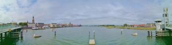 Panoramabild aufgenommen auf der Stadsbrug über die Ijsel