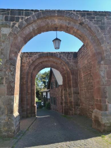 Burgauffahrt von der Burg aus gesehen
