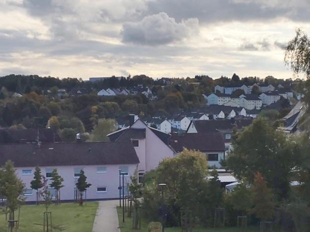 Wohnhäuser der US-Soldaten an den Hängen rund um Baumholder