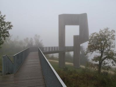 Nur vom Gipfel aus ist de Skulptur begehbar