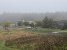Blick von der Spielwiese zum Hunsrückhaus