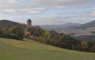 Wieder-Annäherng an Burg Lichtenberg von Körborn aus