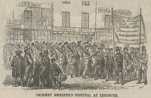 """The Chimney Sweeper's Festival at Leicester,"" ""British Workman"" 23 (1856): 90."
