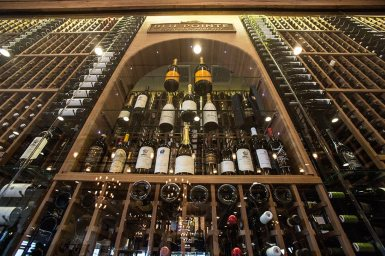 You will not find a more beautiful wine cellar