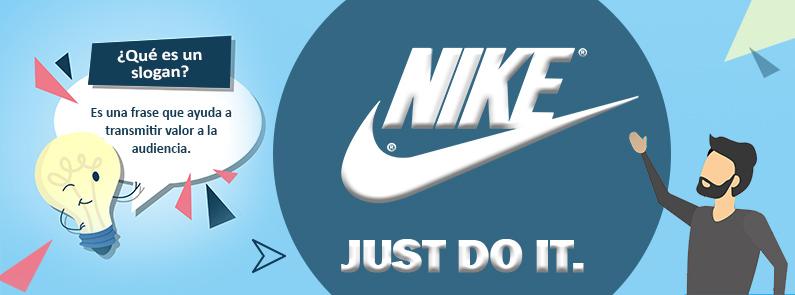 BluCactus Que es un slogan. logo de Nike