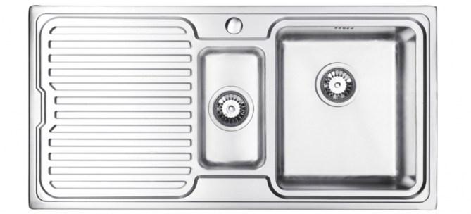 Bluci Orbit 1 1.5 Bowl Stainless Steel Kitchen Sink with Drainer