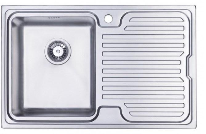 Orbit 3 stainless steel kitchen sink with drainer