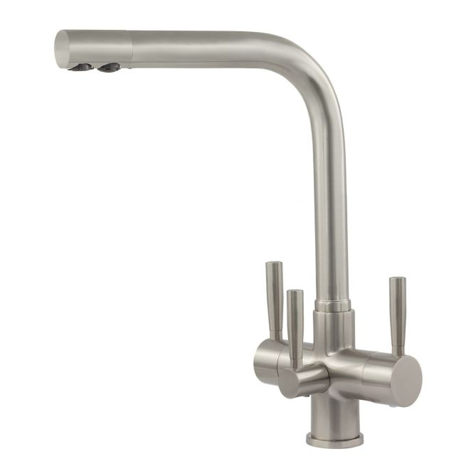 NOVANTA Water Filter Brushed Tap with Three Levers