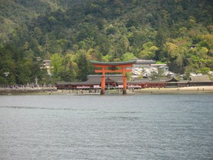 JR ferry will show you Itsukushima shrine.
