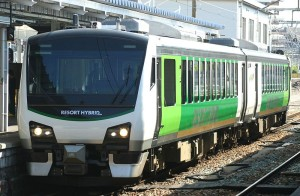 Resort View Furusato is operated by Hybrid train. There is only one round trip on weekend only. (C) Rsa