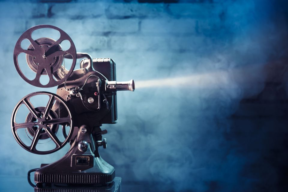 Blue and Gold Production Projector