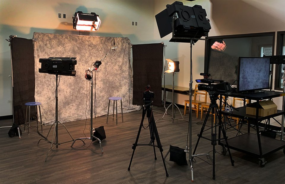 Setting up for interview