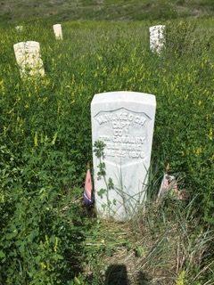 Captain Miles Keogh's memorial marker / Jo Roberts
