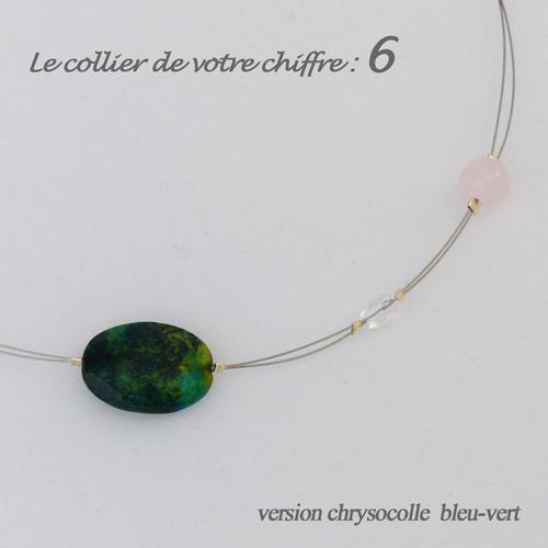 numerologie-collier-6-chrysocolle-quartz-rose-pierre-bleuvert