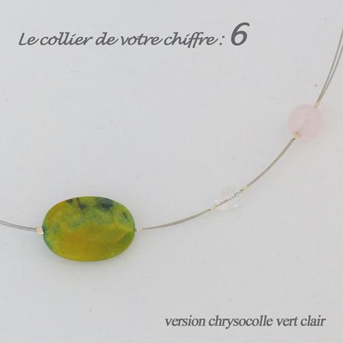 numerologie-collier-6-chrysocolle-quartz-rose-pierre-vert-clair
