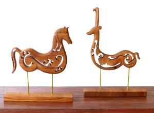 sculptures-bois-cheval-renne-anne-emmanuelle-maire