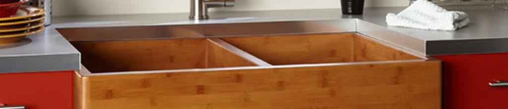 bamboo farmhouse kitchen sinks